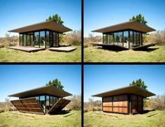 Fold out Tiny Home - allow Nature in. Architecture by - Olson Kundig