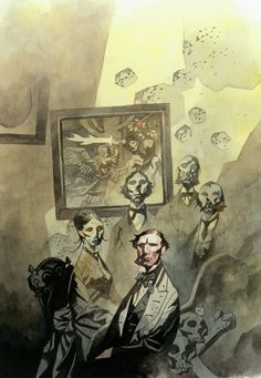 The Falconers reference - Faceless colonials  www.thefalconers.wordpress.com  Mike Mignola art