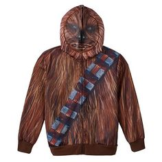 Dress him as his favorite Star Wars character from waist up with this boys' Chewbacca hoodie featuring a full ventilated mesh mask. Star Wars Halloween, Halloween 2016, Halloween Party, Chewbacca Costume, Boys Hoodies, Sweatshirts, Halloween Sweatshirt, Star Wars Party, Star Wars Characters