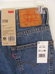 Levi's Men's Pair 550 Relaxed Fit Jeans 31x36