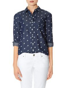 Chambray Sailboat Shirt from THELIMITED.com #TheLimited