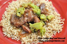 Better than takeout ...Slow Cooker Beef and Broccoli