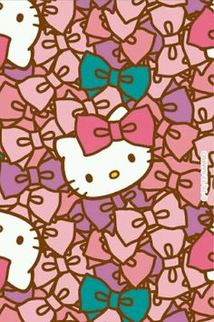 O Kitty Iphone Wallpaper Cute With One Bow
