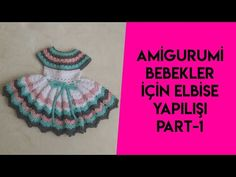 amigurumi elbise yaplışı (how to crochet doll dresses) pretty lady dreses Crochet Doll Dress, Crochet Doll Pattern, Knitted Dolls, Knitted Hats, Crochet Hats, Videos Instagram, Barbie Dress, Doll Dresses, Doll Videos
