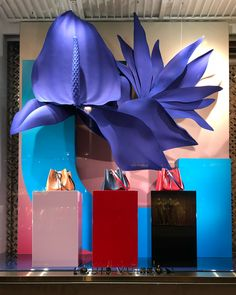 "LOUIS VUITTON, Mayfair, London, UK, ""Flowers... Oops... Bags are always a good idea"", photo by Visual Windows 27, pinned by Ton van der Veer"