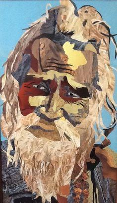 Hindou one Collage sur Bois 43x73 Bellanger Corinne  Ko