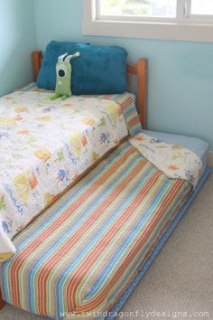 Create a DIY Trundle Bed with furniture sliders!