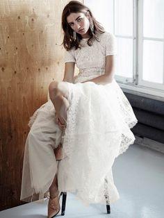 Modest and stylish Boho wedding gown. Wedding Dress Sleeves, Boho Wedding Dress, Wedding Gowns, Modest Wedding, Bridal Gown, Boho Chic, Bohemian Style, Bohemian Gypsy, Vestido Dress