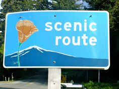 Scenic Route Sign by johnbvasko, via Flickr