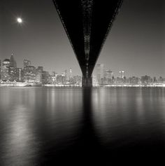 Michael Kenna, Brooklyn Bridge, Study 2, New York (2006) Walked across the bridge several times but never saw this angle -As beautiful as the top