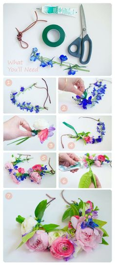 Flower crown DIY One day I want to have a reason to wear one
