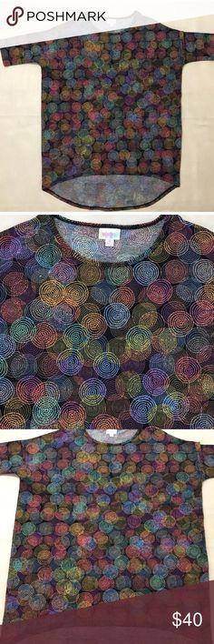 Lularoe Irma geometric circles Blouse Tunic size S Excellent condition. LuLaRoe Tops Blouses
