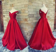 2016 Simple Dark Red Prom Dresses V Neck Off The Shoulder Ruched Satin Custom Made Backless Corset Evening Gowns Formal Dresses Real Image Real Photo Collar Beaded Prom Dresses Long Chiffon Evening Gowns Online with 128.0/Piece on Magicdress2011's Store | DHgate.com