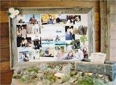 way to display photos at a wedding reception | beautiful ways to display these photos all throughout your reception ...