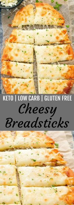 Diet Snacks These cheesy breadsticks are keto, low carb and gluten free. They are ready in about 30 minutes! - These cheesy breadsticks are keto, low carb and gluten free. They are easy to make and ready in about 30 minutes. MOZZARELLA CHEESE AND. Ketogenic Recipes, Diet Recipes, Recipes Dinner, Recipies, Appetizer Recipes, Dessert Recipes, Bariatric Recipes, Appetizer Ideas, Healthy Recipes