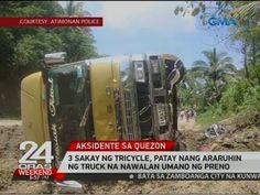 24 Oras: 3 sakay ng tricycle, patay nang araruhin ng truck na nawalan umano ng preno - WATCH VIDEO HERE -> http://philippinesonline.info/aldub/24-oras-3-sakay-ng-tricycle-patay-nang-araruhin-ng-truck-na-nawalan-umano-ng-preno/   24 Oras is GMA Network's flagship newscast, anchored by Mike Enriquez, Mel Tiangco and Vicky Morales. It airs on GMA-7 Mondays to Fridays at 6:30 PM (PHL Time) and on weekends at 5:30 PM. For more videos from 24 Oras, visit  Subscribe to the GMA Ne