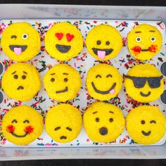 When cupcakes meet emojis you know that all is right with the world.  Get the recipe from Chelsweets.   - Delish.com