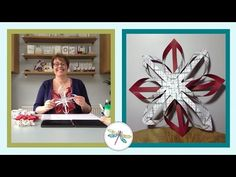 How to make a woven paper Finnish Star - YouTube