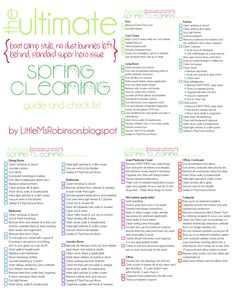 Spring cleaning. Because cleaning is more fun with a cute list.