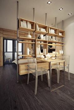 If you live in a studio, a well-placed and styled room divider gives you a charming dining area.