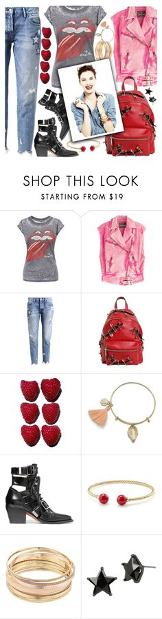 """""""The Rolling Stones"""" by chey-love ❤ liked on Polyvore featuring Roberto Cavalli, Rich & Royal, Moschino, Chloé, David Yurman, Mudd and Betsey Johnson"""