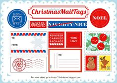 10 Christmas Printables for Kids, mail tags copy by babalisme, via Flickr
