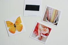 DIY Mini-photo magnets using magnet tape