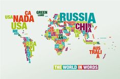 World map text poster poster print texts walmart and dorm typomaps designs the world in words land of maps gumiabroncs Images