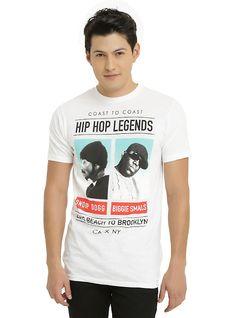Coast To Coast Hip Hop Legends Snoop Dogg Biggie Smalls T-Shirt 66eb8a759