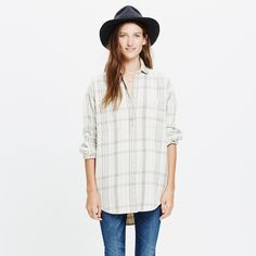 Flannel Sunday Shirt in Wichita Plaid : shirts & tops | Madewell