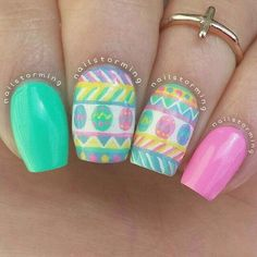 Image uploaded by POSH GIRLS! Find images and videos about pink, nails and nail art on We Heart It - the app to get lost in what you love. Easter Nail Designs, Easter Nail Art, Cute Nail Designs, Fingernail Designs, Nail Polish Designs, Gel Nail Art, Spring Nail Art, Spring Nails, Perfect Nails