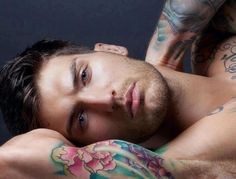 From Goodreads [Lick (Stage Dive, #1) by Kylie Scott — Reviews, Discussion, Bookclubs, Lists] Edit 28 Dec 2013: pic is of Adam Von Rothfelder - model/actor and former mixed martial artist, by Michael Stokes