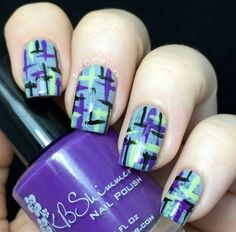 Abstract Tweed #purple #nails #nailart #nailprint #kbshimmer - bellashoot.com & bellashoot iPhone & iPad app