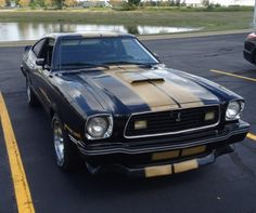All original 1977 Mustang Cobra-II 302, 4-Speed with A/C.