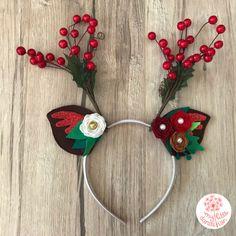 Christmas Reindeer Headband Red Photoshoot Party