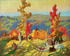 Franklin Carmichael (Canadian, Group of Seven, 1890–1945): Bissett Farm, 1933. - Google Search
