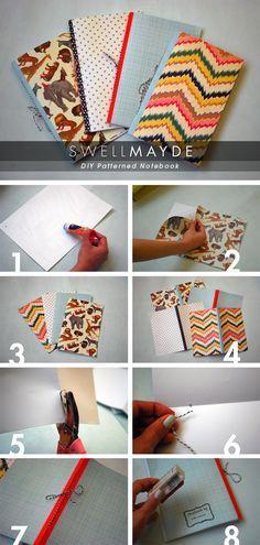 tutorial para hacer tus propios cuadernos, DIY