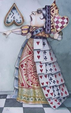 *QUEEN OF HEARTS ~ Alice in Wonderland.....Off with her head...