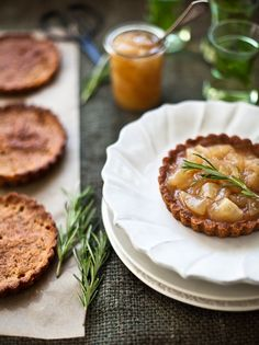 Little Pear Tears with Rosemary Almond Shortbread Crust