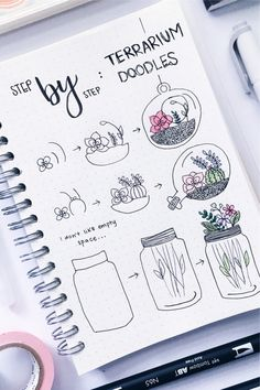 Looking to add some cute flower doodles to your bullet journal and need some ideas to get started? These awesome step by step guides will give you the inspiration you need! - 17 Amazing Step By Step Flower Doodles For Bujo Addicts - Crazy Laura Bullet Journal Banner, Bullet Journal Lettering Ideas, Bullet Journal Notebook, Bullet Journal Themes, Bullet Journal School, Bullet Journal Inspiration, Journal Ideas, Doodle Inspiration, Easy Doodle Art