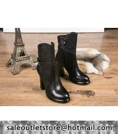 Alexander Wang Waterproof Thick High Heel Short Boots Black #women fashion outfit #clothing style