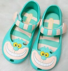 Mini Melissa jelly shoes with cheshire cat $5.87 from Aliexpress