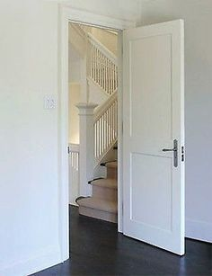 Simple 2 panel interior door with a modern styled home i for Flat solid wood door