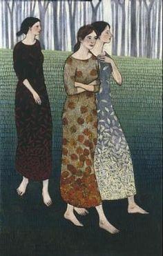 'Fall Coming Like 3 Sisters' by Brian Kershisnik