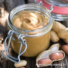 Organic, unsweetened peanut butter is high in vitamin B6, it helps to regulate blood sugar, which stabilizes mood swings. LIKE if you love peanut butter!  www.hungryforchange.tv