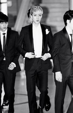 He looks like a groom on his way to his wedding