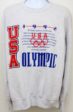 Rare 90's Vintage 1992 USA OLYMPIC by StandoutVintageStore on Etsy, $78.00