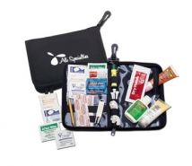 An first aid kit with all the essentials....Because accidents do happen! #promoproducts