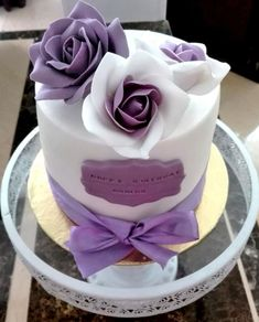 Purple roses birthday cake by Passant87