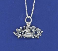 Volleyball Mom necklace, another unique piece of volleyball jewelry by GymRats Volleyball necklaces, bracelets, and earrings. Volleyball Outfits, Volleyball Mom, Volleyball Necklace, Clothing Co, Anklets, Jewelry Gifts, Charmed, Pendant Necklace, Earrings